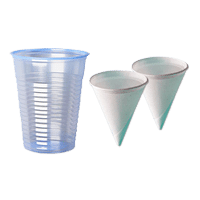 cups and cones for water dispensers